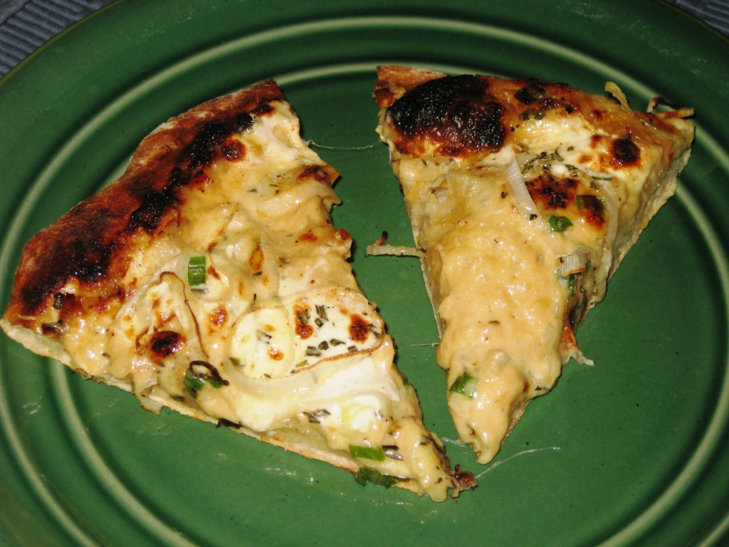 Leek Pizza Slices